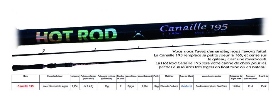 INTUITION PECHE LURRATAK HOT ROD OVERBOOST canne light leurre léger très léger float tube Canaille 195